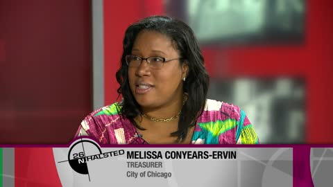 Melissa Conyears-Ervin is the new Chicago City Treasurer and is the custodian and manager of all cash and investments for the City of Chicago, the four City employee pension funds, and the Chicago Teacher's Pension Fund.