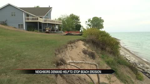 'Catastrophic' beach erosion in New Buffalo worsens