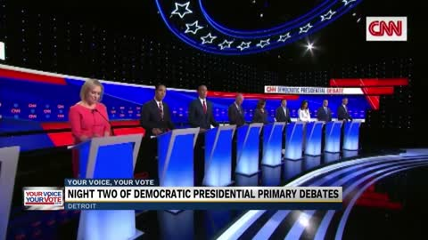 10 Democratic candidates take the stage on night two of Detroit debate