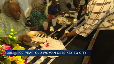 South Bend woman receives Key to the City for 100th birthday