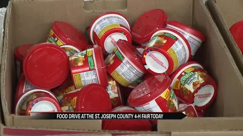 Food drive held at the St. Joseph County 4-H fair
