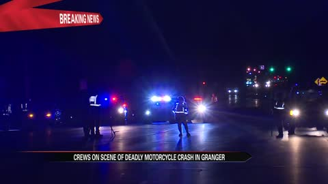 Crews on scene of fatal motorcycle crash in Granger