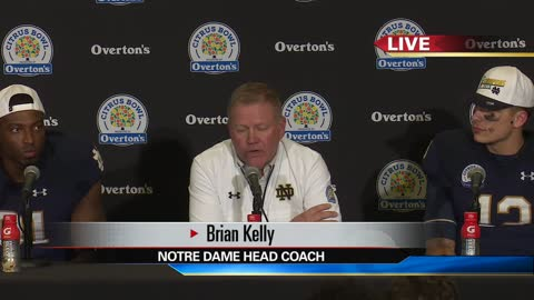 2018 Citrus Bowl: Live press conference with Brian Kelly