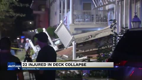 At least 22 people injured in deck collapse in New Jersey