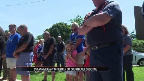 Memorial held for Berrien County Courthouse shooting victims