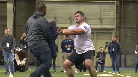 5 pm former irish stars show off skills for nfl scouts