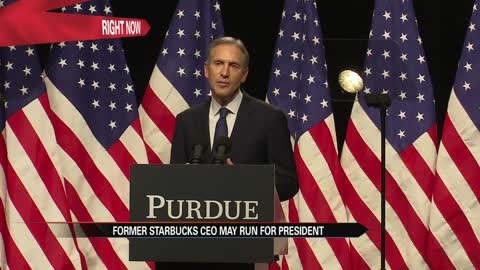 Howard Schultz discusses policy in speech at Purdue University