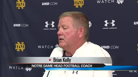 5 pm media day with notre dame football