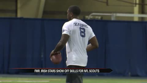 6 pm former irish stars show off skills for nfl scouts