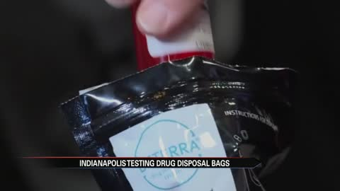 Indianapolis will test new drug disposal bags