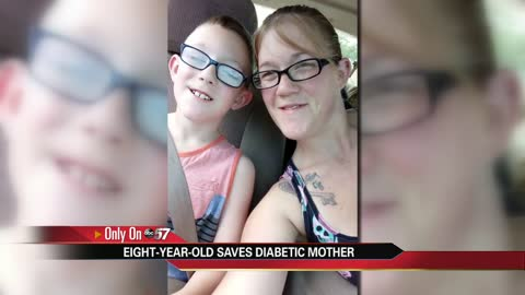 8-year-old saves diabetic mother in South Bend