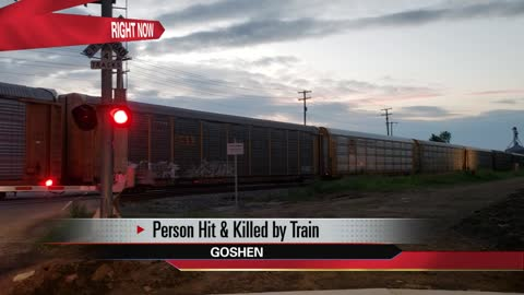 Person struck and killed by train in Goshen