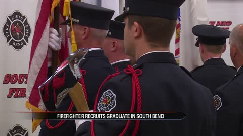 Recruits become firefighters after graduation
