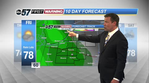 Mild and dry weather continues ahead of a stormy Saturday