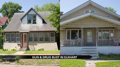 Several drugs and guns found in 2 Elkhart homes Thursday