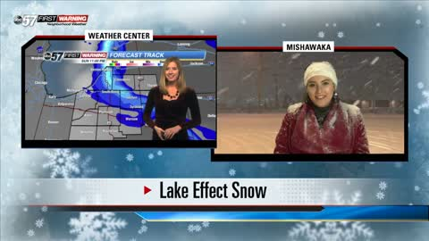 A look at the lake effect snow in Mishawaka