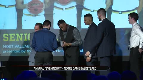 Notre Dame men's hoops meet fans and honor seniors at annual banquet
