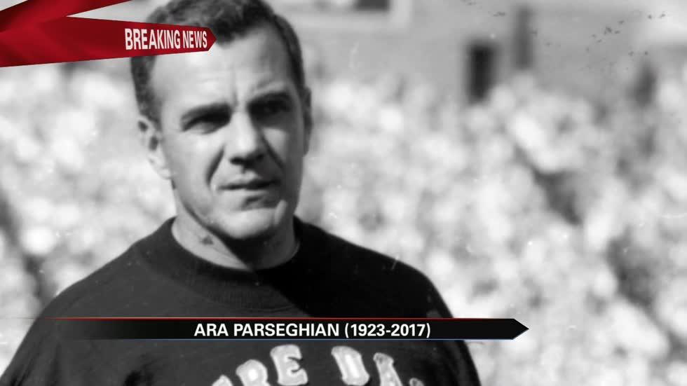 a800a0ec6cd Legendary Notre Dame Football Coach Ara Parseghian dead at 94
