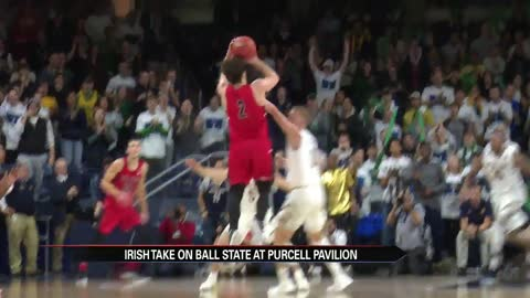 Ball State upsets Notre Dame men's hoops in closing seconds