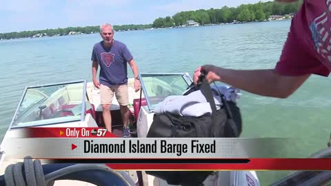 Diamond Island barge back up and running