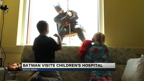 Batman visits Beacon Children's Hospital