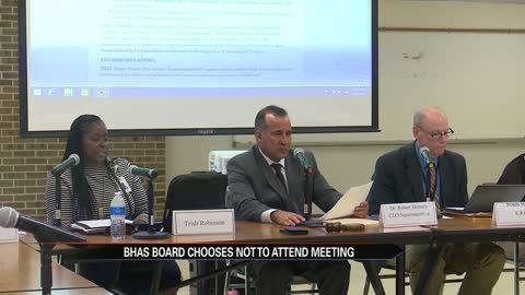 BHAS holds Superintendent meeting while the school board chooses to hold their own meeting