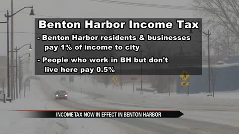 Benton Harbor income tax now in effect