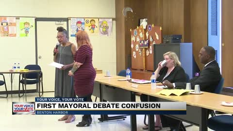Benton Harbor's Mayoral debate at the Public Library on Tuesday...