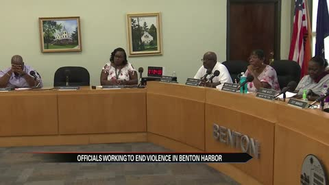 Benton Harbor officials working to end violence