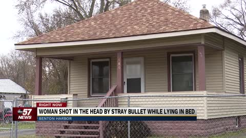 Benton Harbor woman shot in the head by stray bullet while lying in bed