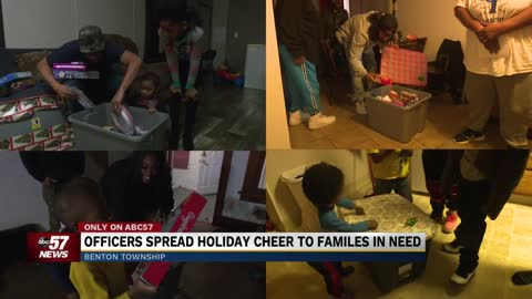 Benton Township Police Department give gifts to families in need
