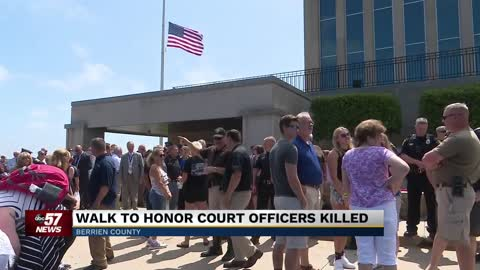 Berrien County community honors officers who died in courthouse shooting