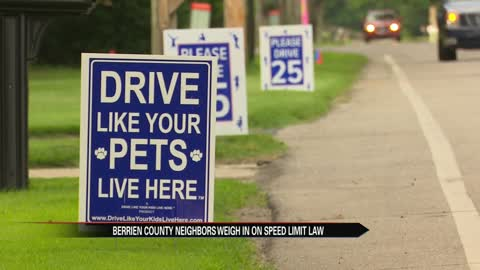Berrien County neighbors weigh in on speed limit law
