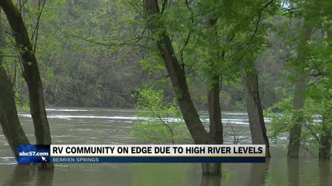 Berrien Springs RV community on edge due to high river levels