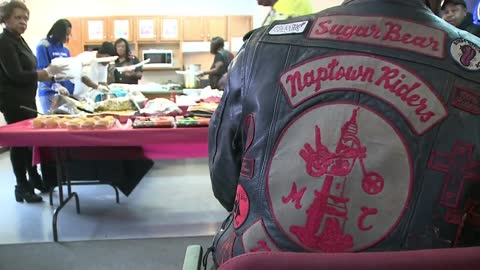 Local motorcycle group spends Saturday feeding seniors