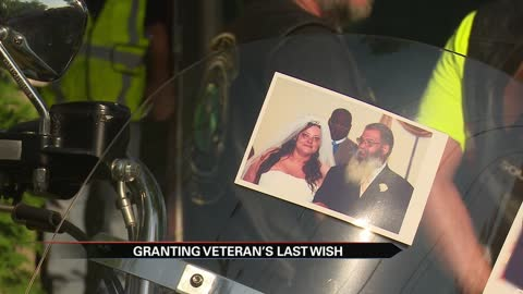 Bikers help grant dying veteran's last wish