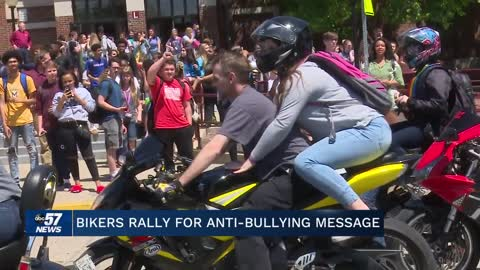 Hundreds of bikers pick up gay Mishawaka student from school; Send anti-bullying message