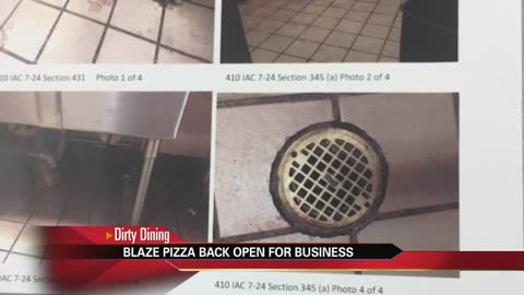 Blaze Pizza reopens following shut down by health department