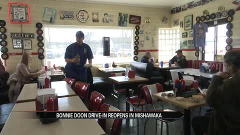 Bonnie Doon Drive-In in Mishawaka has officially reopened