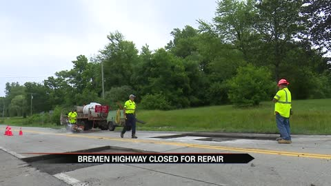 Bremen Highway expected to reopen Wednesday