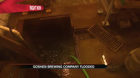 Goshen Brewing Company deals with seeping water from flooding