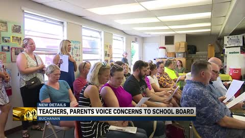Buchanan teachers and parents voice concerns to the school board