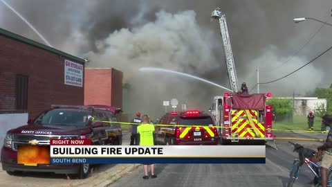 Fire damages multiple buildings in South Bend, fire officials respond