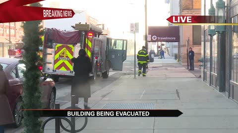 Building on W. Colfax Ave. evacuated by South Bend Fire Department