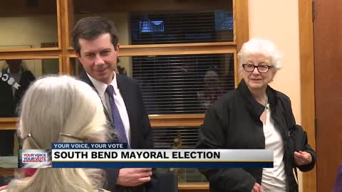 Mayor Pete Buttigieg casts vote on Election Day