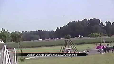 Security cameras catch scary Dowagiac plane crash