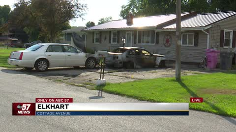 Elkhart family wakes up to three cars and home on fire