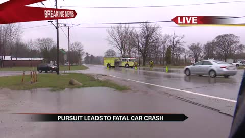 Three dead after police pursuit in Berrien County ends in fatal crash