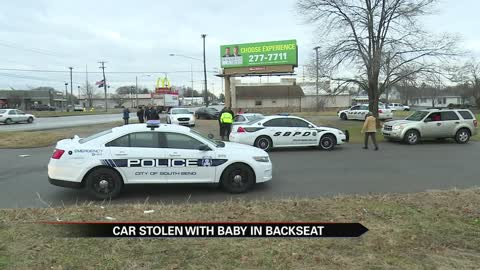 Toddler reunited with family after vehicle theft in South Bend