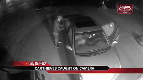 Elkhart car thieves caught on homeowner's surveillance camera